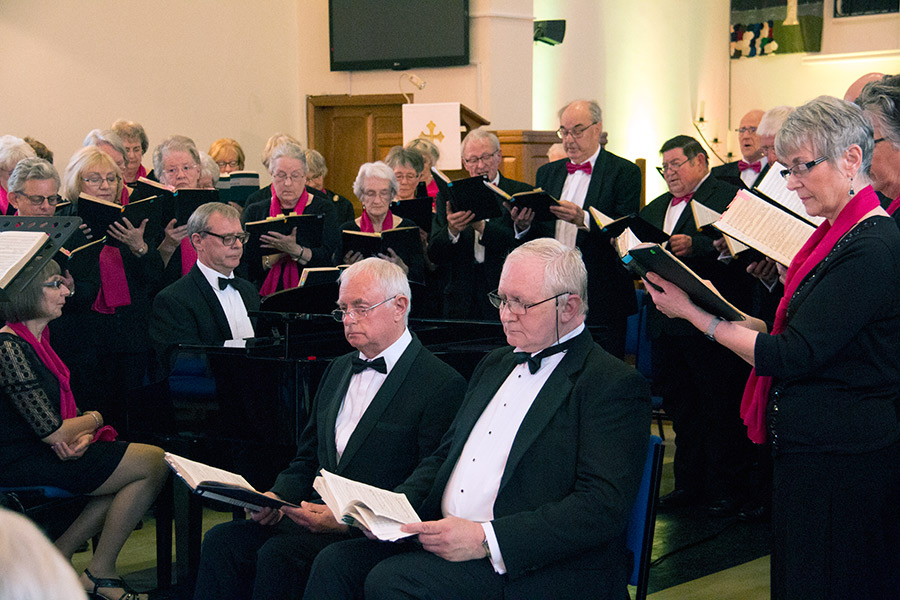 Carnforth Choral Society at their 2016 Spring concert at Chrtistchurch, Broadway, Morecambe